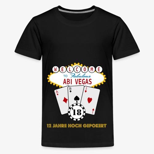 Abipullover Abi Vegas - Teenager Premium T-Shirt