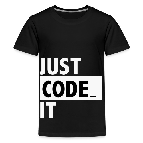just code it - T-shirt Premium Ado