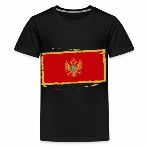 Црна Гора застава - Crna Gora zastava - Montenegro - Teenager Premium T-Shirt
