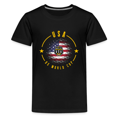 USA - SHIELD OF THE BS WORLD CUP - Camiseta premium adolescente