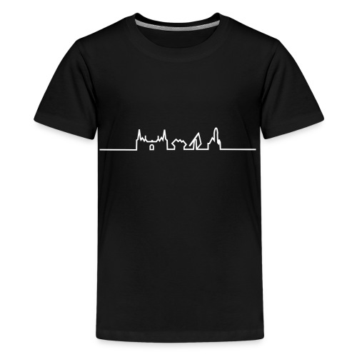 SKYLINE HELMOND WIT - Teenager Premium T-shirt