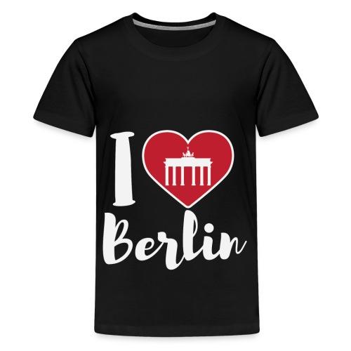 LIMITIERTE EDITION: I Love Berlin,Geschenkidee, - Teenager Premium T-Shirt