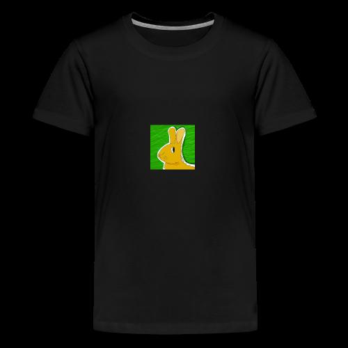 Konijn met groene achtergrond - Teenager Premium T-shirt