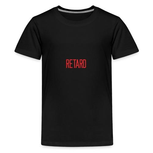 Retard Klær - Premium T-skjorte for tenåringer