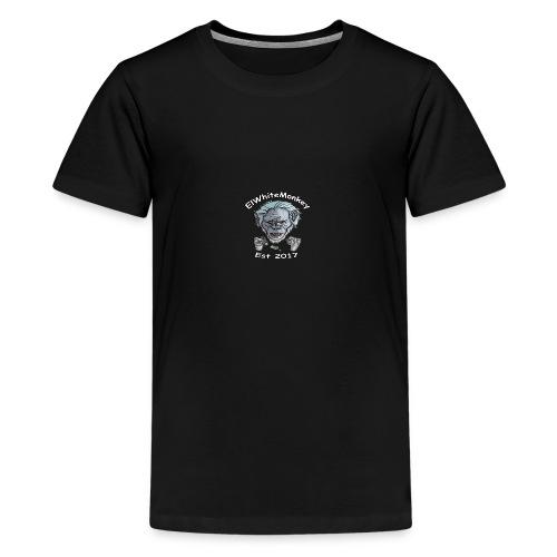 ElWhiteMonkey Logo - Teenage Premium T-Shirt