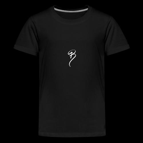 BRAND CLOTHING WHITE - Teenage Premium T-Shirt