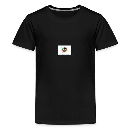 Peace rap entertainmen Tv - Teenager Premium T-Shirt