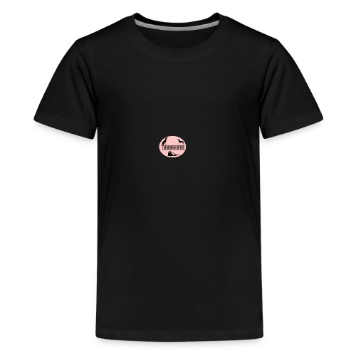 thederbyhunters pinklogo - Teenage Premium T-Shirt