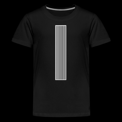 Barcode Think positive - Teenager Premium T-Shirt