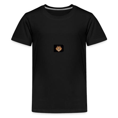 the lion - Premium T-skjorte for tenåringer