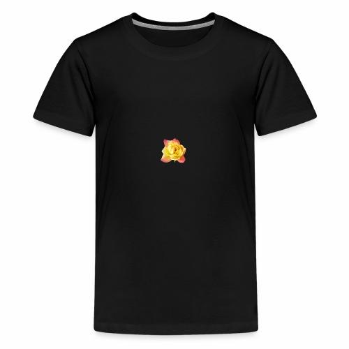 yellow rose - Teenage Premium T-Shirt
