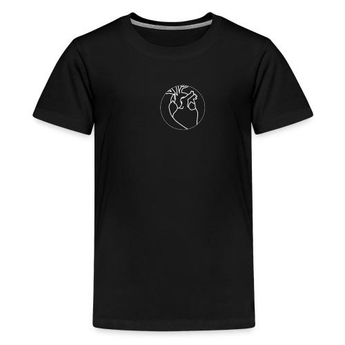 White Heart - Teenage Premium T-Shirt