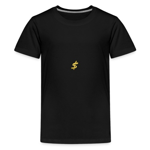 black n gold stax - Teenage Premium T-Shirt