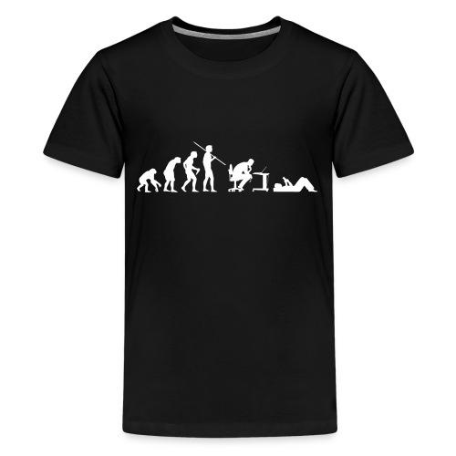Evolution of Geeks - Teenage Premium T-Shirt