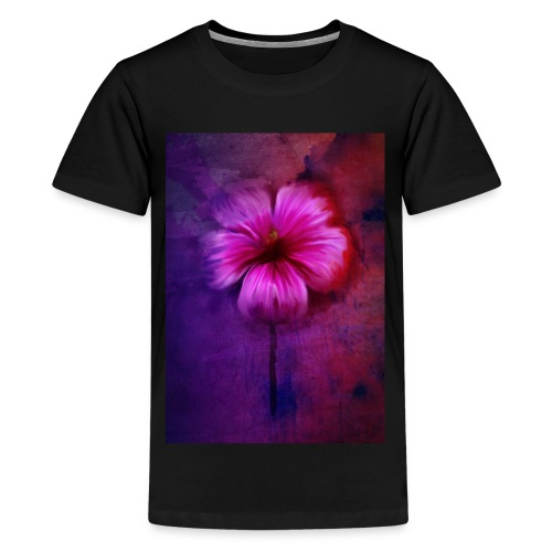 Tropical Hibiscus - Teenage Premium T-Shirt