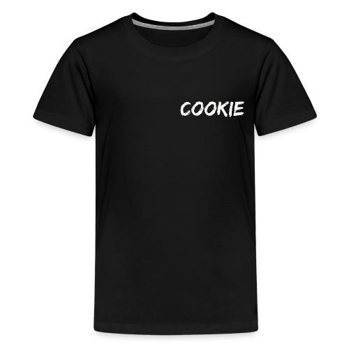 Diseño blanco de la galleta - Camiseta premium adolescente