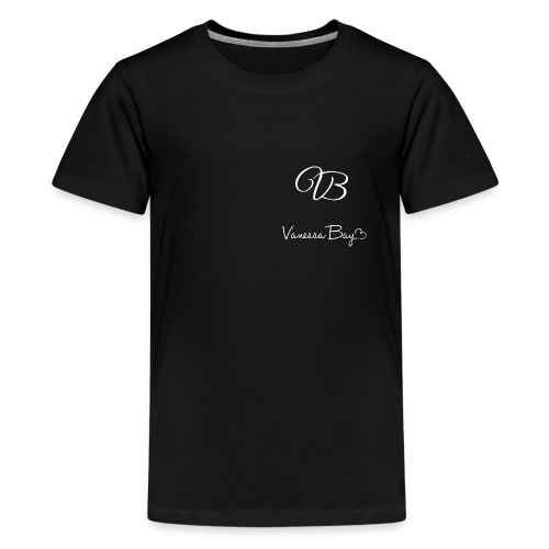 VanessaBayLogoWhiteXXXL 1 - Teenager Premium T-Shirt