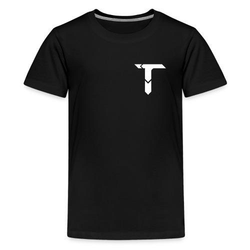 White Logo - Teenage Premium T-Shirt
