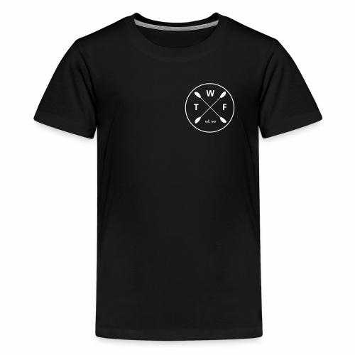 TWF weisses Logo klein - Teenager Premium T-Shirt