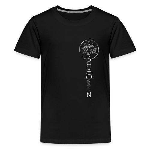 Shaolin Berlin Logo vertikal weiss - Teenager Premium T-Shirt