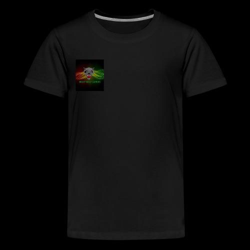 BuzzyWolfGamers - Teenage Premium T-Shirt