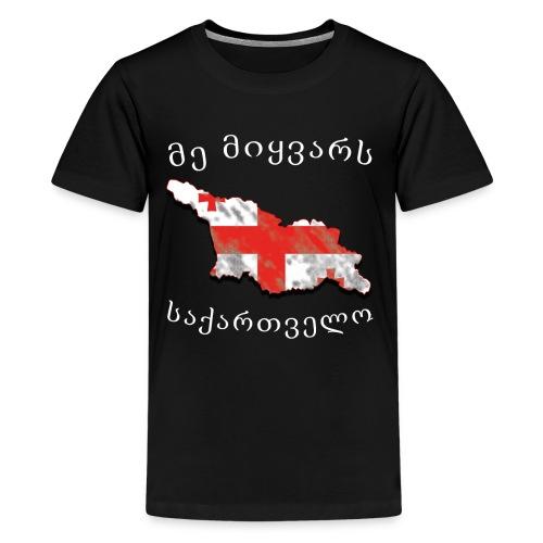 Ich liebe Georgien - Teenager Premium T-Shirt