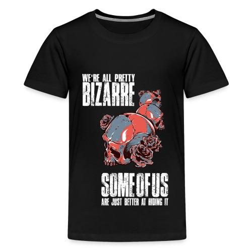 Gothic Totenkopf Schwarz - Teenager Premium T-Shirt