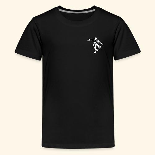 camouflage schwarz snowboarda Von Nuke - Teenager Premium T-Shirt