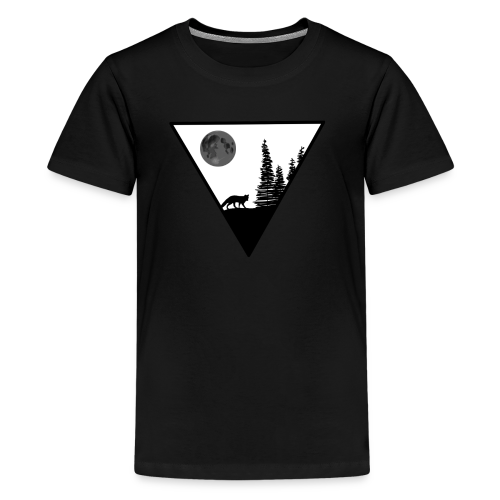 Pleine lune avec renard - T-shirt Premium Ado