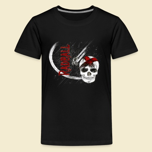 Radball | Cycle Ball Skull - Teenager Premium T-Shirt