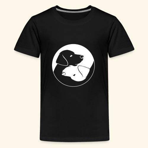 Yin Yang Labrador - Labbi - Geschenkidee - Teenager Premium T-Shirt