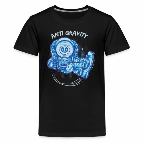 anti gravity space surfing - Teenager Premium T-Shirt