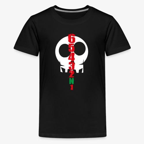 6-5-4-3-2-N-1... Biker's BeeShirts - Teenager Premium T-Shirt