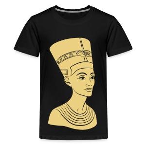 Nefertiti – Königin von Ägypten. Auch Golddruck! - Teenager Premium T-Shirt