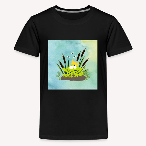 frog king watercolor - Teenager Premium T-Shirt