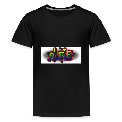 alfie Rainbow design - Teenage Premium T-Shirt