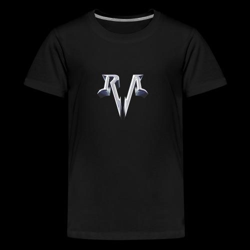 RA Logo blau - Teenager Premium T-Shirt