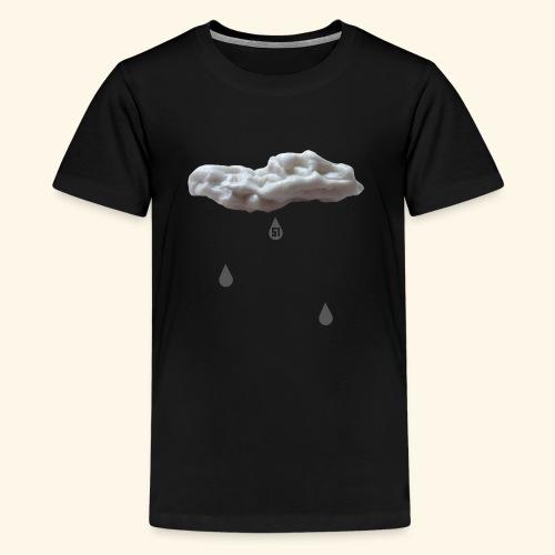 Nuvola con gocce grigie - Maglietta Premium per ragazzi