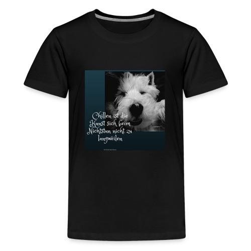 Chillen ist die Kunst - Teenager Premium T-Shirt