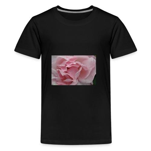 Water Droplet Rose - Teenage Premium T-Shirt