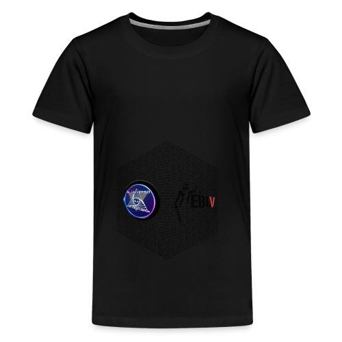 disen o dos canales cubo binario logos delante - Teenage Premium T-Shirt