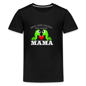 Dino herz mama - Teenager Premium T-Shirt
