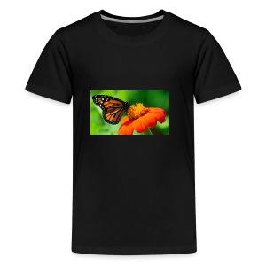 butterfly - Premium T-skjorte for tenåringer