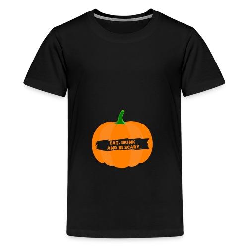 Halloween Pumpkin Shirt for Halloween - Teenage Premium T-Shirt