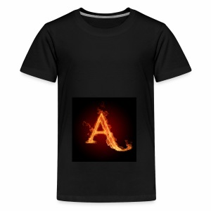 The letter A the letter a 22186960 2560 2560 - Teenage Premium T-Shirt
