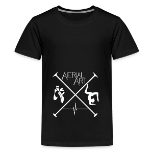 Aerial Art Passion Ballett weiß - Teenager Premium T-Shirt