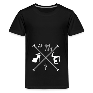 Aerial Art Passion Heel weiß - Teenager Premium T-Shirt
