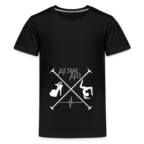 Aerial Art Passion Heel weiß - Teenager Premium T-Shirt