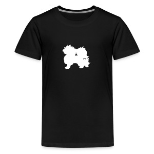 All white Arcanine Merch - T-shirt Premium Ado