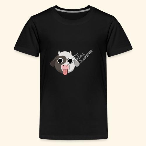 Kuh denkt, er wäre eine Katze - Teenager Premium T-Shirt